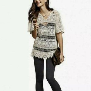 Cabi Boho Poncho/Cover-Up, in Ivory Lace